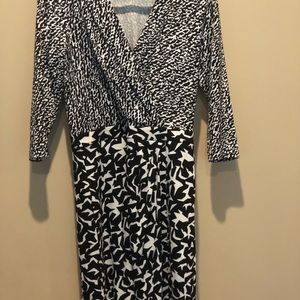 100% silk DVF dress like new